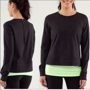 Lululemon Run: Warm Up Crew black pullover sweater
